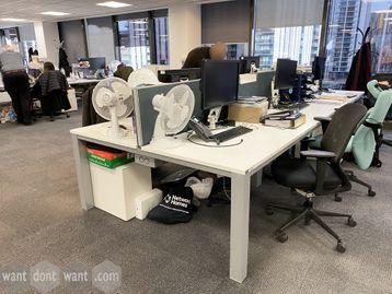Used Samuel Bruce white 6-person Bench desks