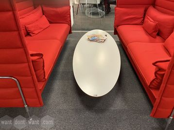 Used Vitra Eliptical Table (ETR) designed by Charles & Ray Eames