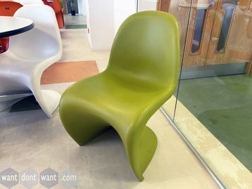 <b>Used iconic design genuine Vitra 'Panton' chairs 4 colours (17 of each colour).</b>