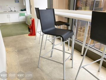 Used Vitra .03 Bar chair with basic grey shell on grey frame