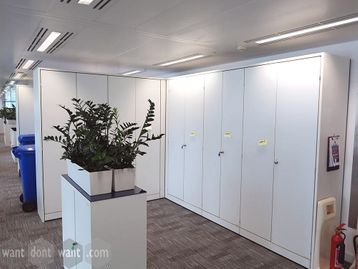 Used 'Cupboard Wall' units in various configurations - very cheap!