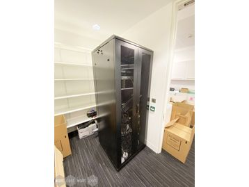 Used black server/data cabinet in very good condition.