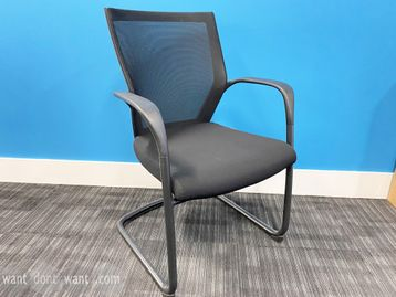 Excellent used 'Sidiz' meeting chairs with mesh backs and black upholstered seat.