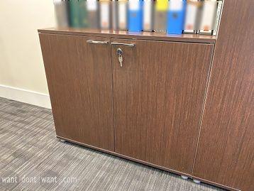 Used low double-door storage cupboards with shelf