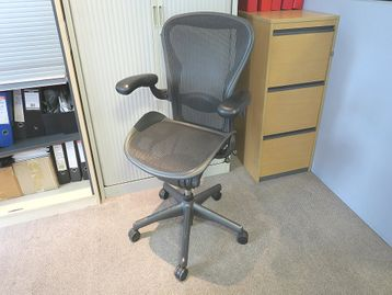 Iconic used Aeron chairs - size 'B' full specification. The most popular office chair for the last 25 years!