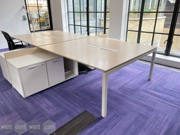 4 x 2-person back-to-back bench desks