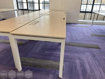 1 x 3-person side-by-side bench desk. Each desk position 1400mm wide x 800mm deep