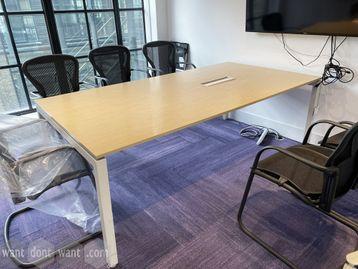 Rectangular meeting table 2200mm wide x 1140mm deep