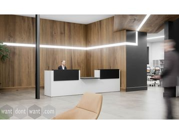 Brand New smart professional reception desk with central DDA