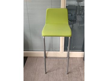 Used Steelcase 'Barstool Barstool' upholstered in bright green fabric