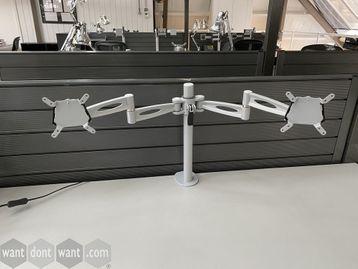 Used 'Kardo' dual Monitor arms grey