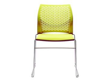 Brand New Connection 'Xpresso' chairs with yellow perforated shell.