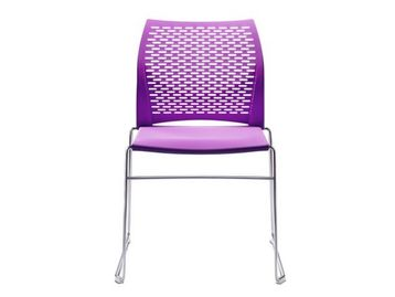 Brand New Connection 'Xpresso' chairs with purple perforated shell.