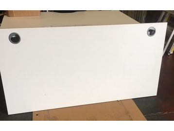 New white desk tops - 1600mm x 800mm each with 2 x cable ports