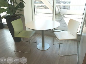 Used 900mm White Cafe Table