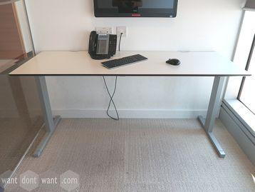 Used 1600mm 'Techo' Freestanding White Rectangular Desk