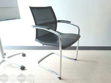 Used Sedus Meeting Chairs with Black Leather Seat