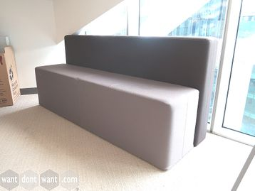 Used Fabric bench Seats with Backs