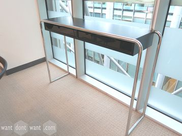 Used Brunner Black and Chrome Console Table