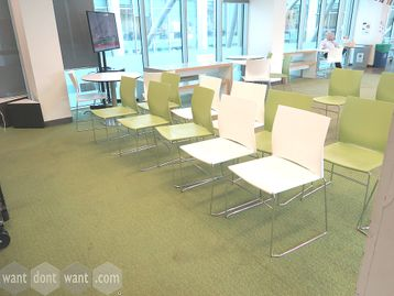 Used Connection Xpresso Canteen Chair - Available in White or Green