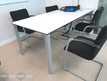 Used 2000mm White Boardroom Meeting Table