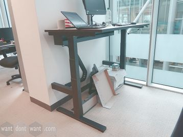 Used 1400mm Techo Height Adjustable Sit Stand Desk