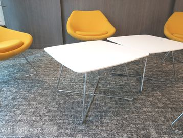 Used Allermuir White Coffee Table