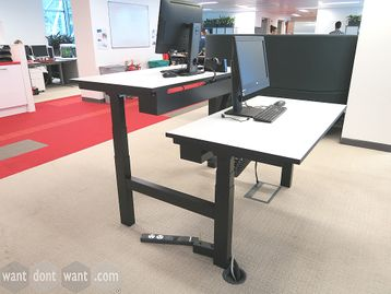 Used 1400mm Double Task Systems Height Adjustable Sit Stand Desk