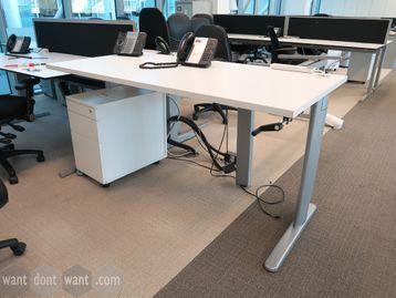 Used 1600mm Manual Crank Handle Height Adjustable Desks