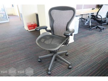 Used Herman Miller 'Aeron' chair size 'B'
