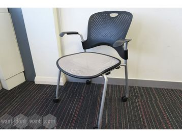 Herman Miller 'Caper' chairs on castors