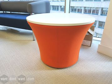 Used Connection 'Hive' Circular Coffee Table with Orange Base