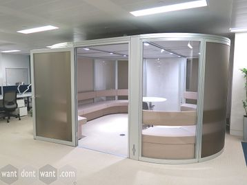 Used Orangebox Airea Glazed Office Pod