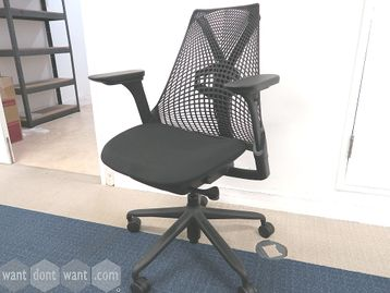 Used Herman Miller Sayl Black Operator Chair