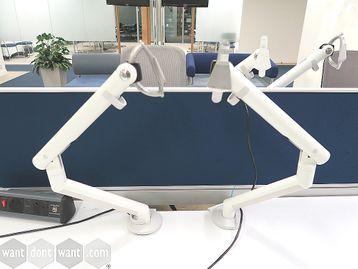 Used White CBS 'Flo' Monitor Arm