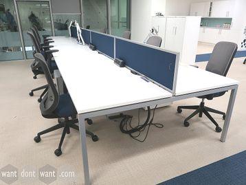 Used 1400mm White Bench Desks