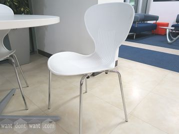 Used White Canteen Chairs