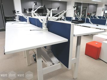 Used Electric Sit Stand back-to-back Bench Desks