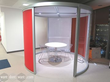 Used Orangebox Airea-110 Circular Office Pod