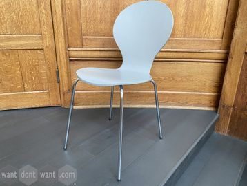 Used stacking chairs - grey with chrome legs