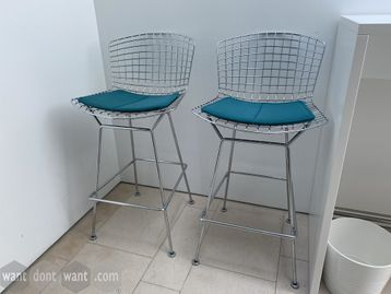 Original used Knoll Bar Stool from Harry Bertoia's 1952 'Wire' collection.