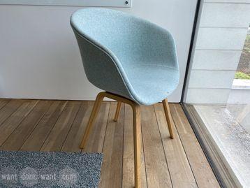 Used HAY meeting chairs with matt oak legs