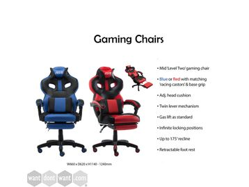 Got some time at home now, bit bored? Treat yourself to one of these Gaming Chairs with retractable foot rest.