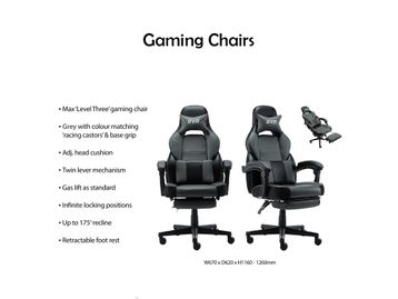 Extremely comfortable gaming chairs with retractable footrest