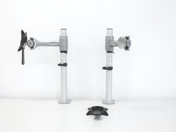 70 x sets of Colebrook Bosson Saunders Monitor Arms: Comprising: Post, Wishbone, Forearm & Clamp.