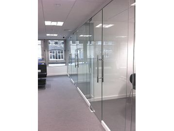 <b>Glass Partitioning - You Won't Find Cheaper!</b> We can deliver and install too! Click this photo for details.<b>Fantastic!</b>