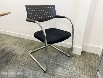 Used Vitra Visavis chairs with chrome cantilever frame.