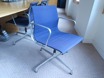 Used 'Aluminium Group' chairs designed by Charles & Ray Eames manufactured under license by ICF.