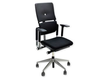 Used Steelcase V2 Operator Chairs Re-upholstered in New Black Fabric