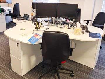 Used 4 Person Call Centre Desks - Price Per Seated Position